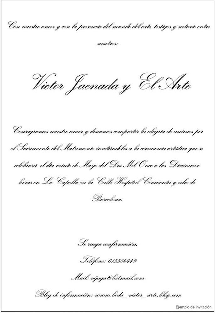 La boda con el arte (proyecto), 2009 - miscelanea