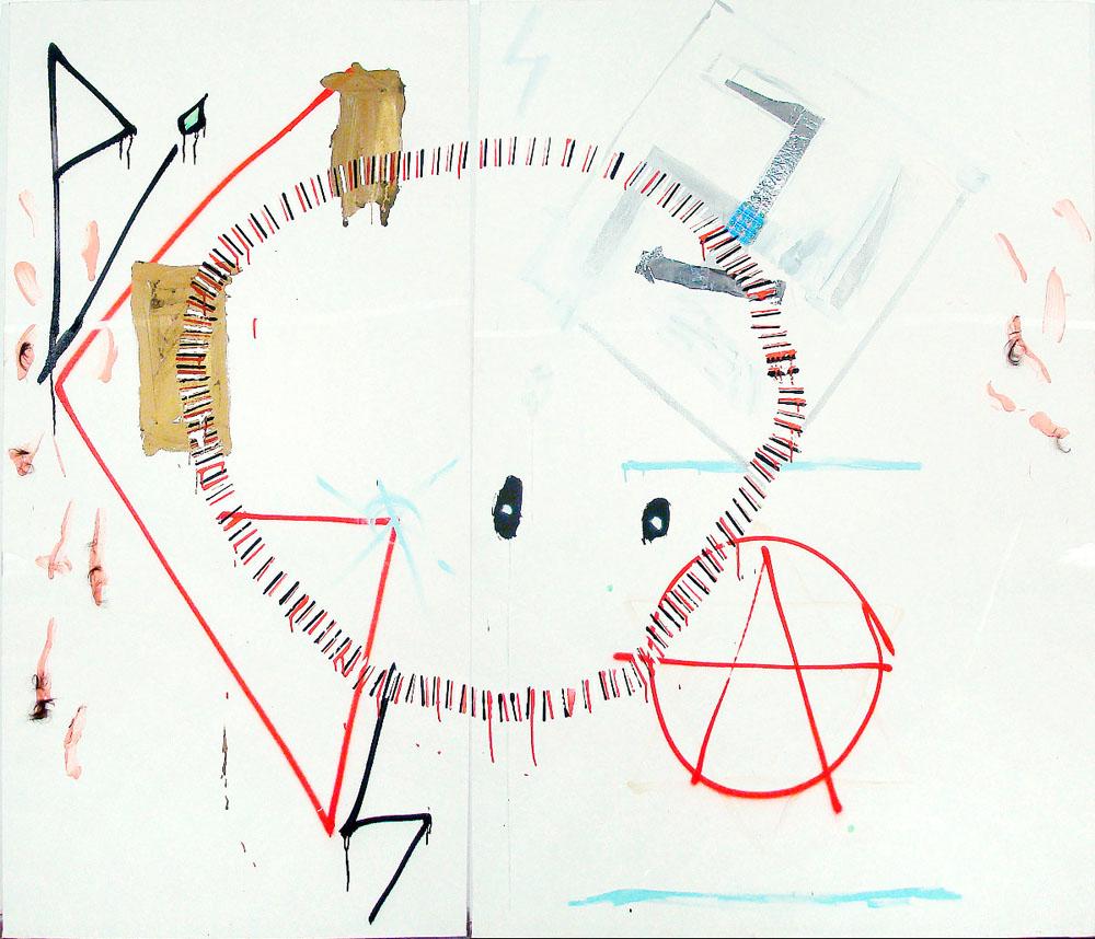 Pigs Circle Polanski, 2010 - pinturas